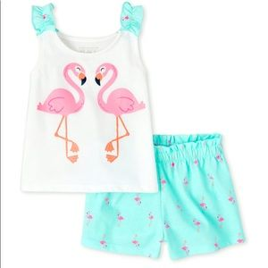 NWT 2pc Flamingo set
